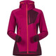 Bergans W's Cecilie Wool Jacket with Hood Bougainvillea/Dark Cherry/Strawberry